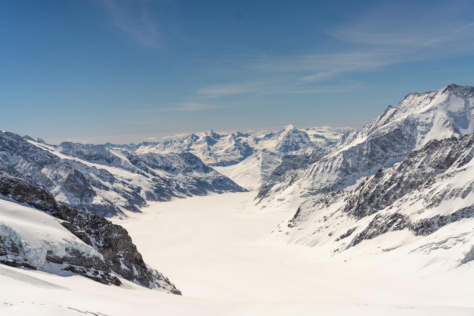 Jungfrau Joch in Switzerland Glaciers and Mountains