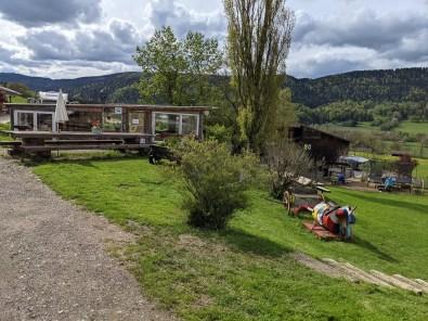 le coue bio farm camping in Switzerland