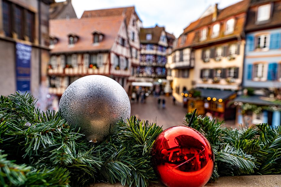 Christmas decorations in Colmar
