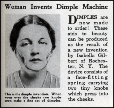 Old-age techniques to induce dimples