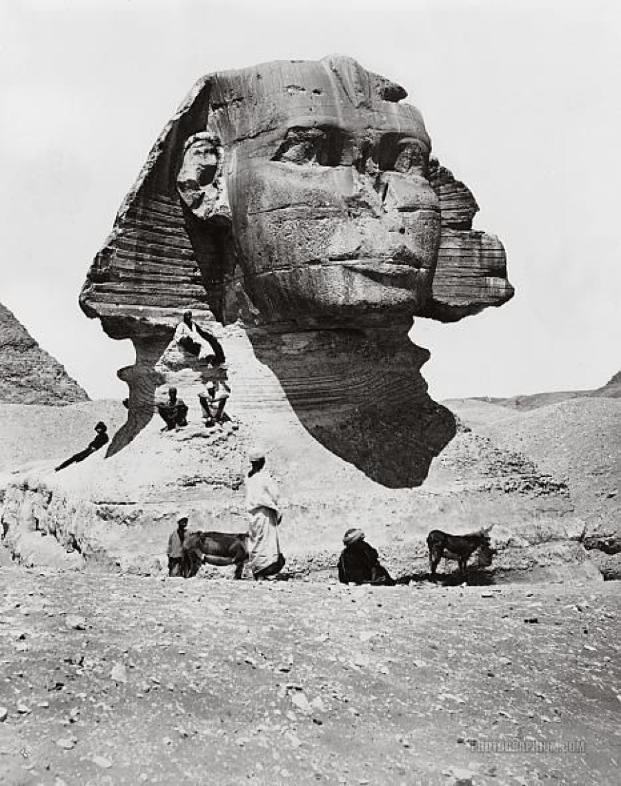 Sphinx in late 1800s. Image Credit: Photographium Historic Photo Archive