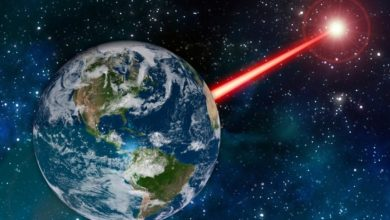 Scientists want to use powerful lasers to signalize aliens. Image Credit: MIT News.