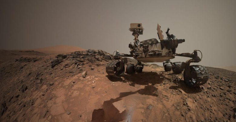 Looking Up at Mars Rover Curiosity in 'Buckskin' Selfie. Image Credit: NASA