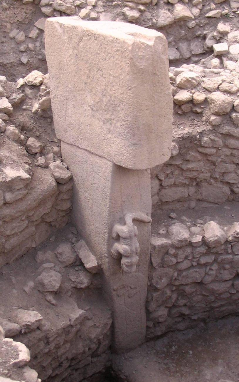 Uma imagem em close de um dos pilares do local.  Crédito de imagem: Wikimedia Commons.