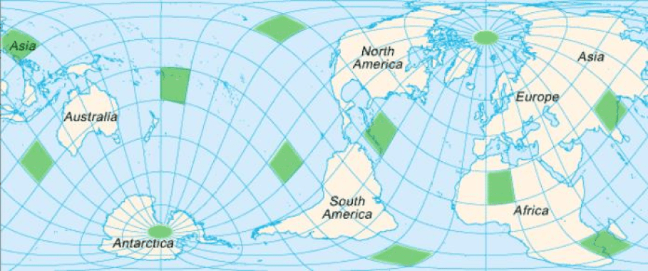 The Vile Vortices on a map.
