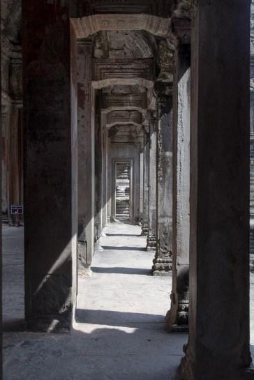 Along the corridors of Angkor Wat