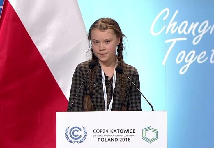 Greta Thunberg speech at COP24 Katowice, Poland in December 2018