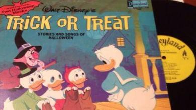 Photo of Walt Disney's Trick or Treat Halloween Album with the Haunted Mansion