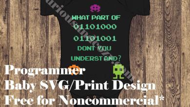 Photo of Programmer Baby Design Free SVG