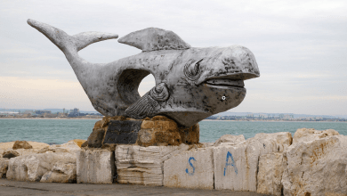Photo of Jonah and the Whale Memorial Sculptures in Israel