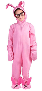 Pink onesie to be used for the Rabbit Raider costume