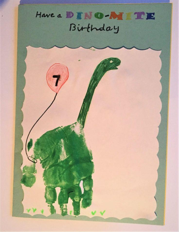 How to make a pop up card - Dinosaur birthday card