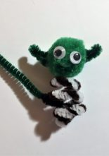 Star Wars Pipe Cleaner Finger puppets - Master Yoda