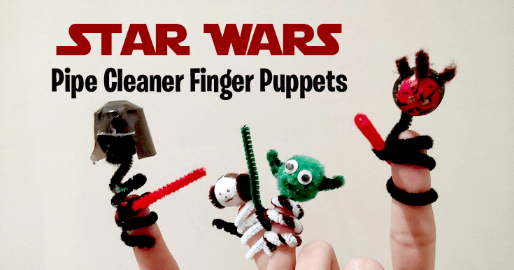 Star Wars Pipe cleaner finger puppets - Learn how to make these Star Wars finger puppets