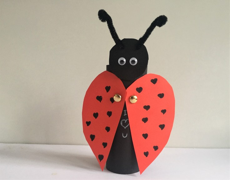 Ladybug Craft for kids Step 6 - Toilet Paper Roll Ladybug craft for kids