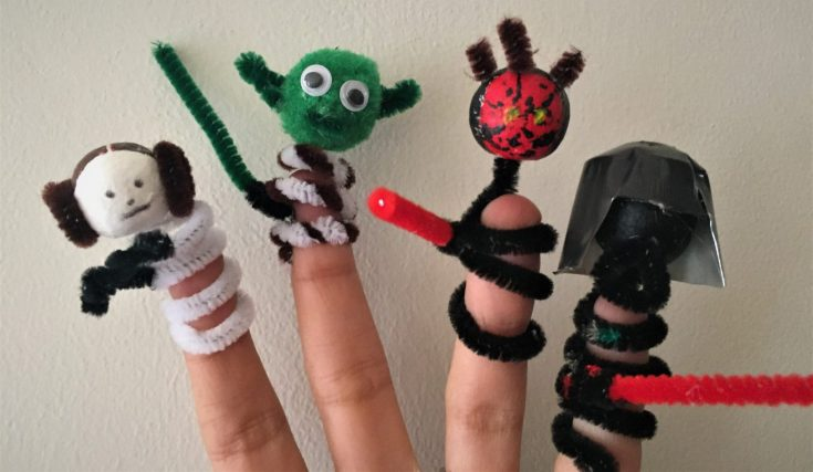 Star Wars Pipe Cleaner Finger puppets Star Wars finger puppets - Star Wars Pipe Cleaner Finger Puppets