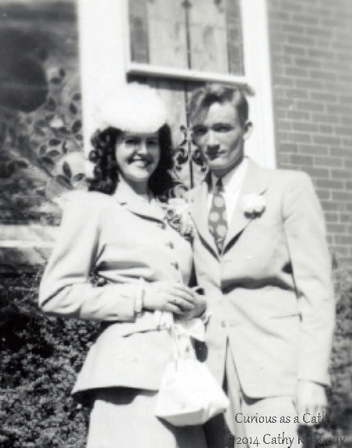 The day my in-laws got married in April 1947. In these old photos, I always thought of Dorothy of as Starlet. She definitely is as pretty, if not prettier than any big screen actresses from her era. However, she just wasn't beautiful on the outside; she was as beautiful on the inside.