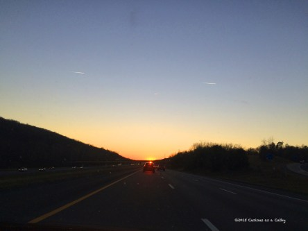 iPhone capture on I-40W 30-minutes outside of Knoxville.