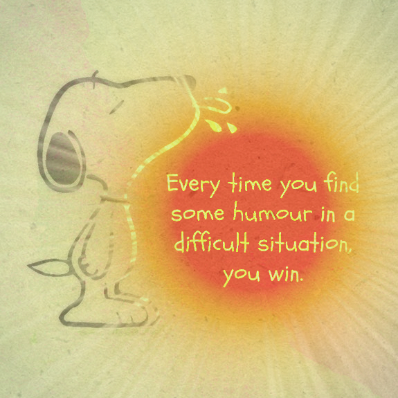 Snoopy ~ humour in difficult situation
