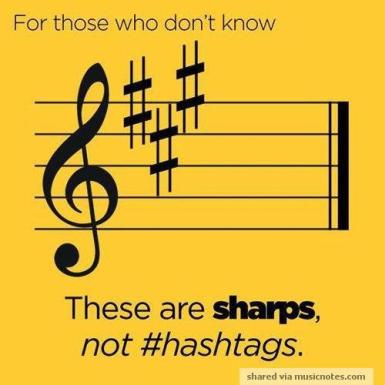 sharps not hashtags