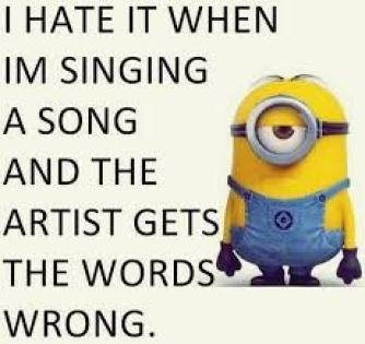 Minion artist gets words wrong