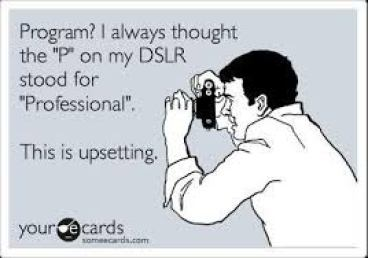 """P"" on DSLR humor"