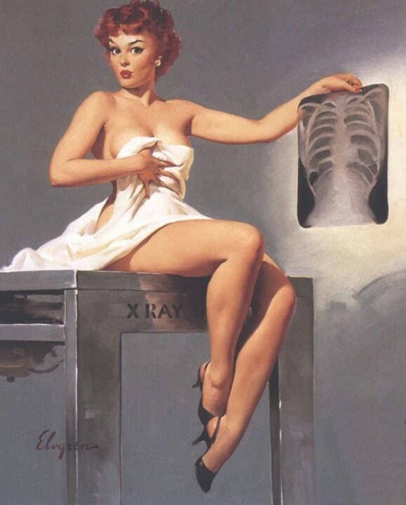 Pinup girl x-ray