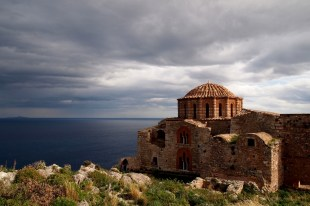 monemvasia st sophia byzantine church greece