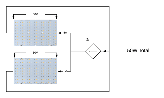 Image showing 2 quantum boards in parallel and current distribution between them