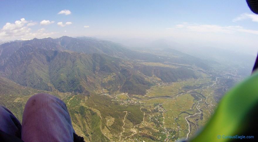 Paragliding at Bir-Billing in Himachal Pradesh, India.