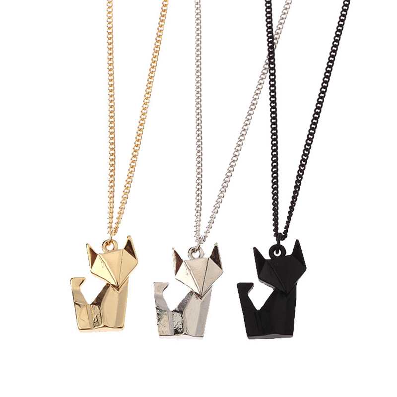 Origami fox pendant necklace - for all the fox lovers out there! #foxes #weheartfoxes #afflink