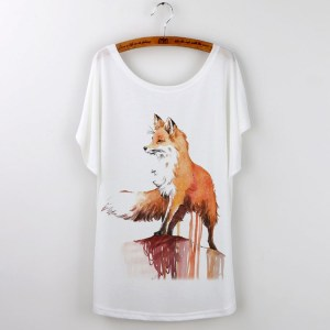 Printed fox t-shirt for the ultimate fox lover!