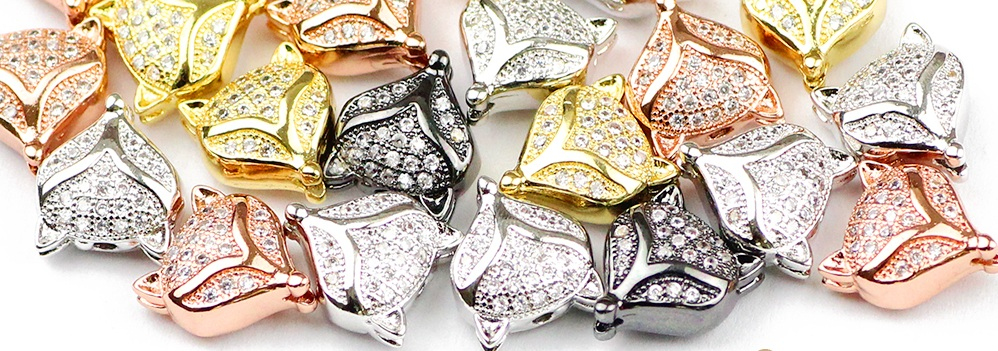 gold silver and rose gold fox beads #beads #beading #jewellerymaking #afflink