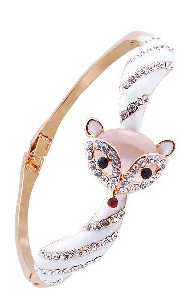 White diamante fox bracelet #fox #weheartfoxes #foxy #afflink