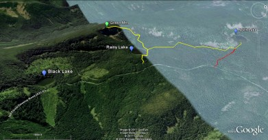 Rainy Lake and trails overview