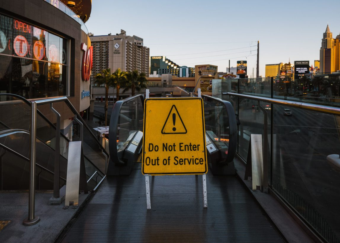 Las Vegas - Closed Escalator