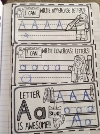 Practicing writing the letter A!