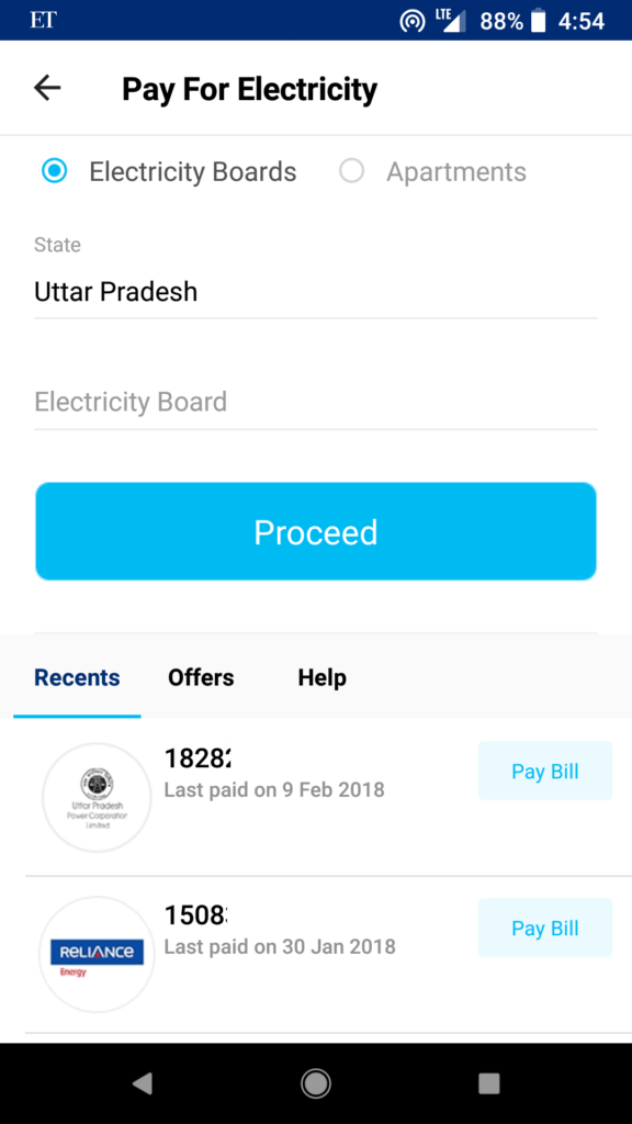 PayTm bill payment