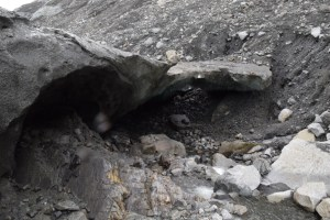 Image of the entrance to the ice cave in Adventure seekers guide to Juneau, Alaska post