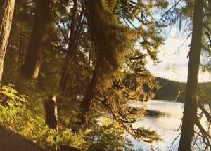 Image of Erin overlooking Auke lake in Adventure seekers guide to Juneau, Alaska post