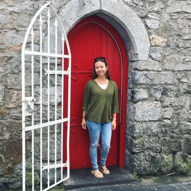 Doors and castles HelloIreland Galway doorsofinstagram SpanishArch girlsvsglobe
