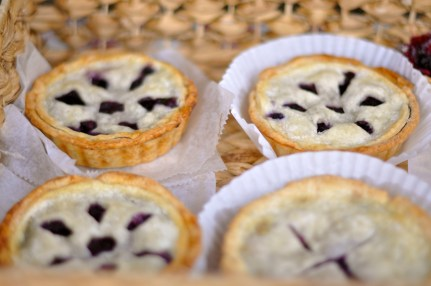 Mini blueberry hand pies from Cafe Delice