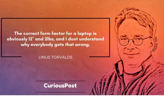 Linus Torvalds Laptop