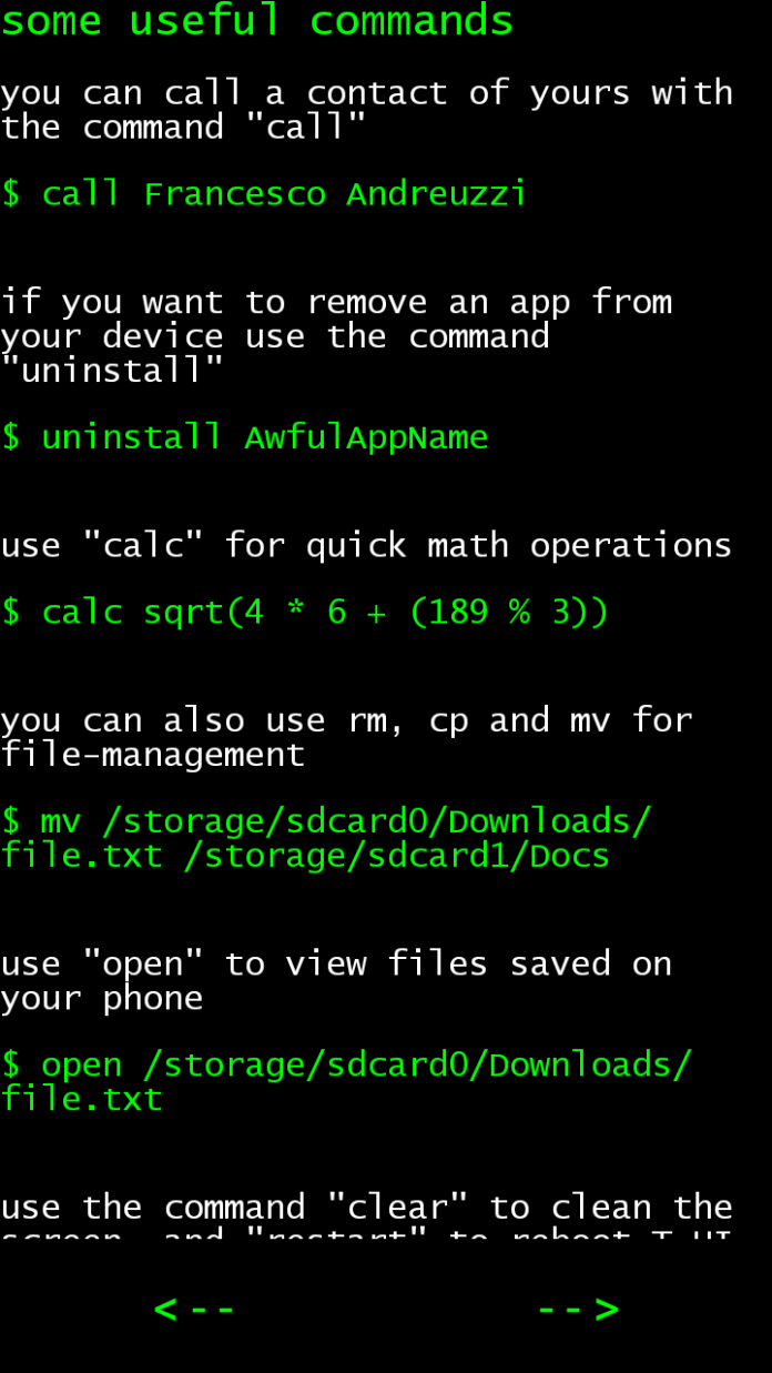 Android CLI.