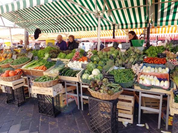 Veggie stall in the market
