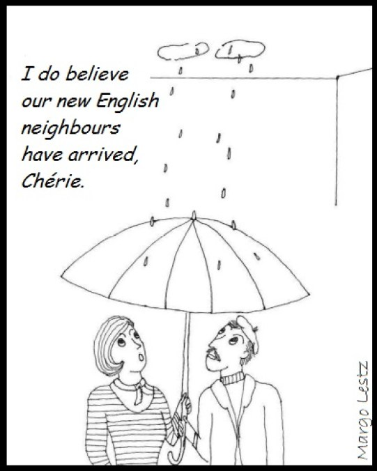 new English neighbours umbrella