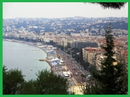 view over Nice from chateau