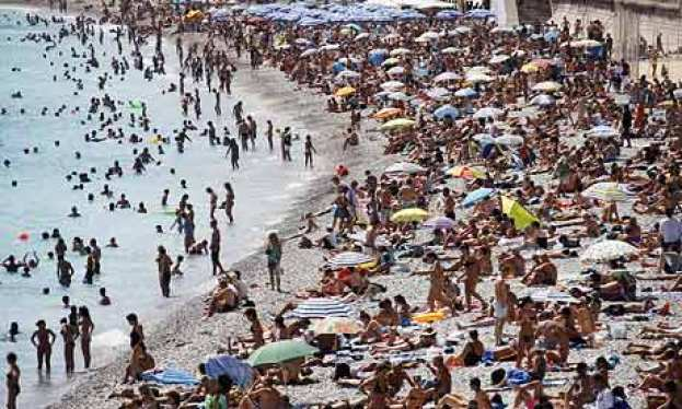 French Riviera beach, Nice France