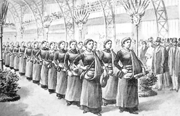 Les Portuese de Pain, bread delivery women