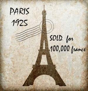 Eiffel tower sold postcard
